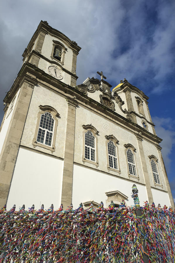 Wish Ribbons Famous Bonfim Church Salvador Bahia Brazil royalty free stock photos