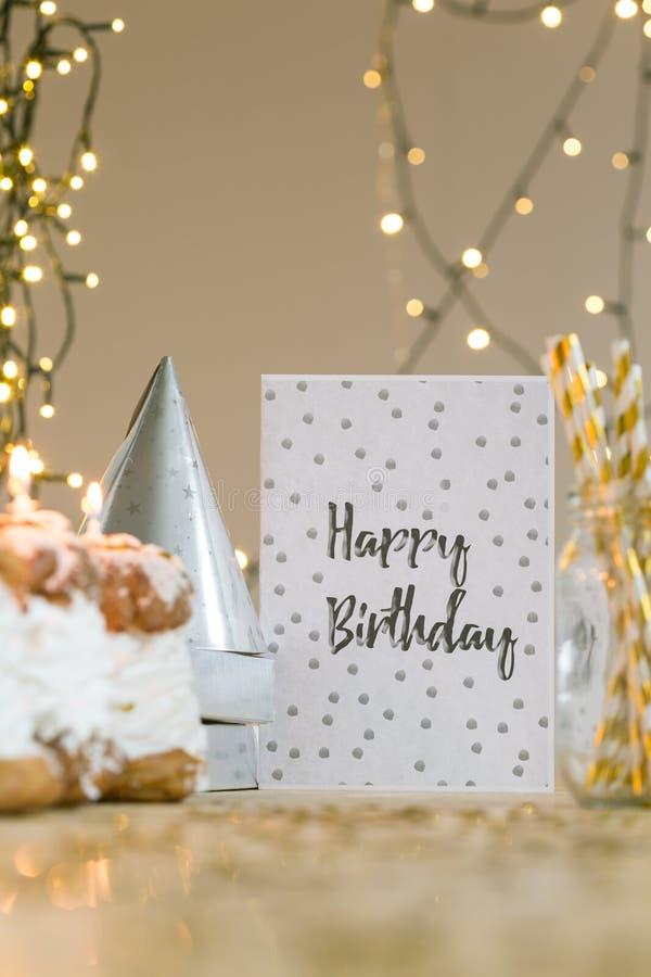 We wish you happy birthday! royalty free stock photography