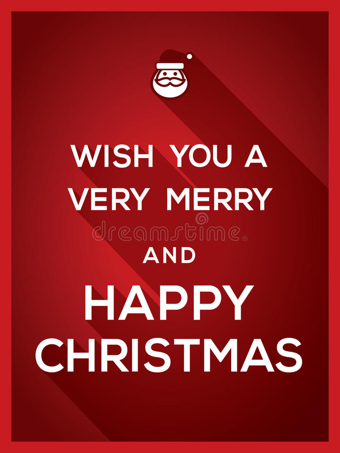 Wish You a Very Merry and Happy Typography Christmas background vector illustration