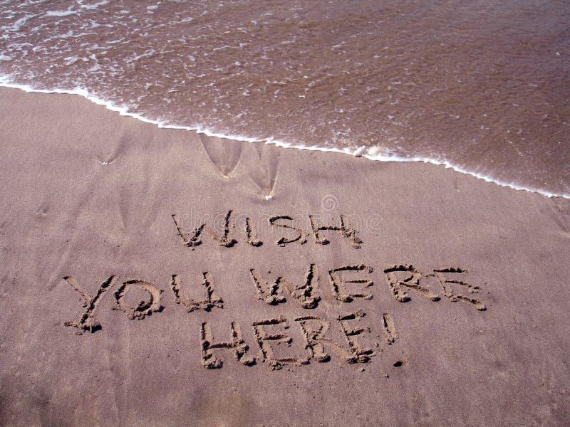 Wish you were here stock photo