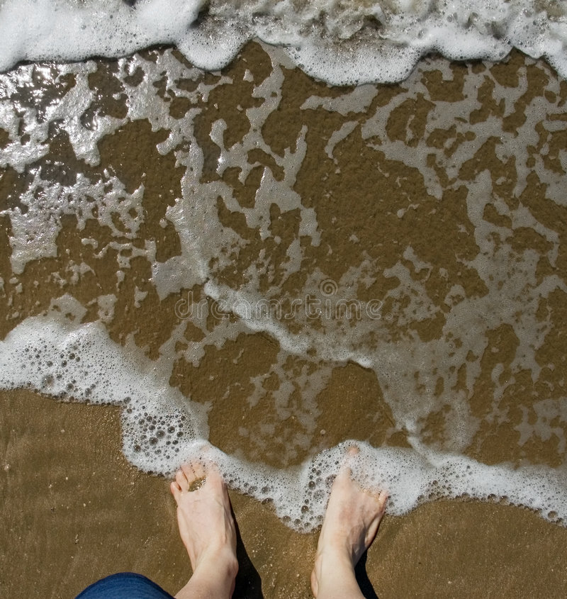Download Wish You Were Here - Feet In Surf Stock Image - Image: 2005669