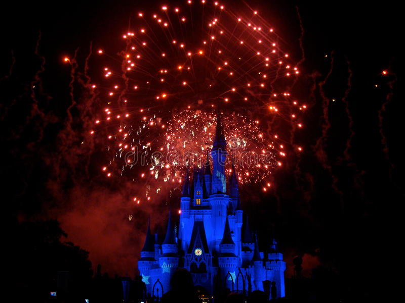 Wishes Nighttime Spectacular stock photos