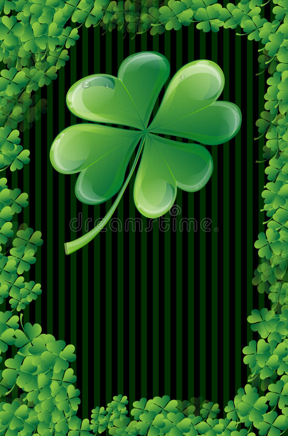 Wishes on St. Patricks Day stock illustration