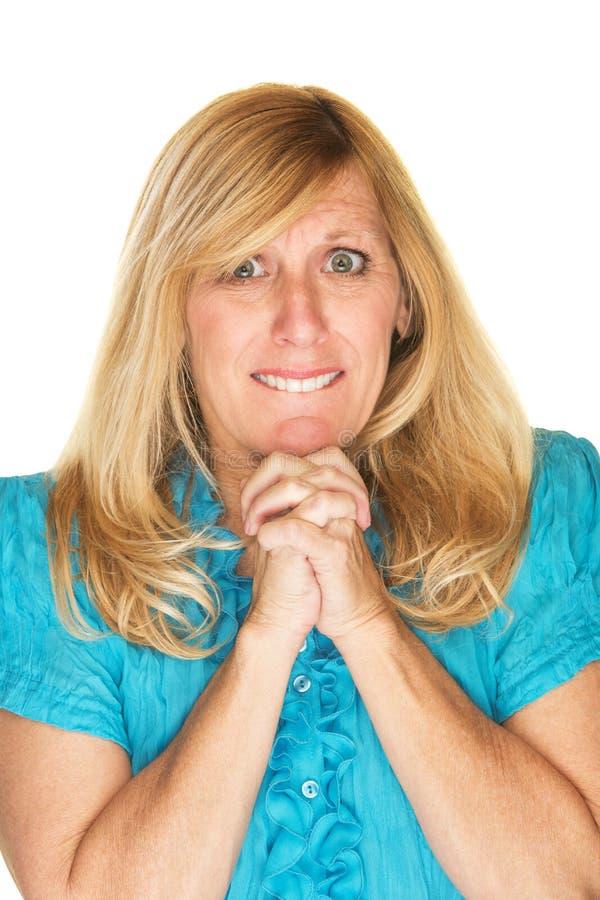 Free Wishful Woman Praying Stock Images - 53930014