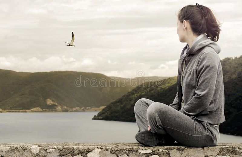 Download Wishing freedom stock photo. Image of peace, active, nature - 20566270
