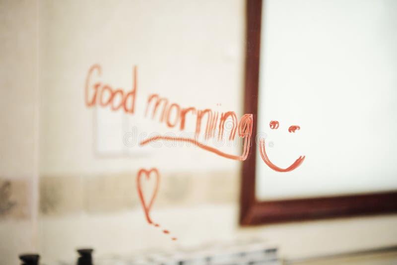 Wishing Good morning stock photography
