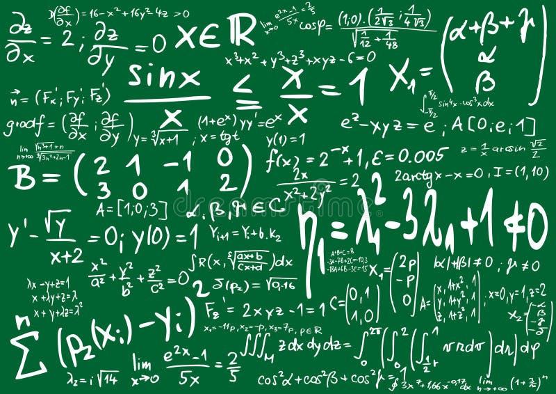Wiskunde royalty-vrije illustratie