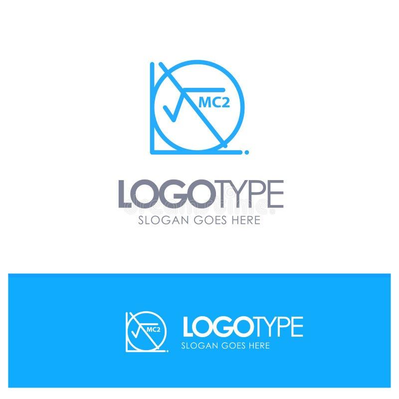 Wiskunde, Formule, Wiskundeformule, Onderwijs Blauw Logo Line Style vector illustratie