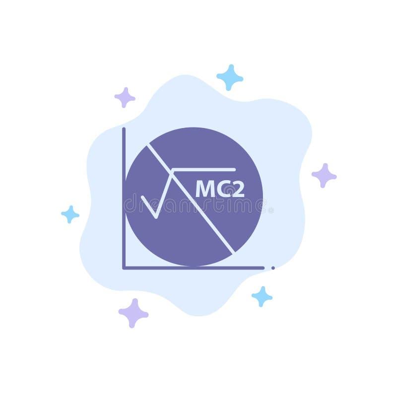 Wiskunde, Formule, Wiskundeformule, Onderwijs Blauw Pictogram op Abstracte Wolkenachtergrond stock illustratie