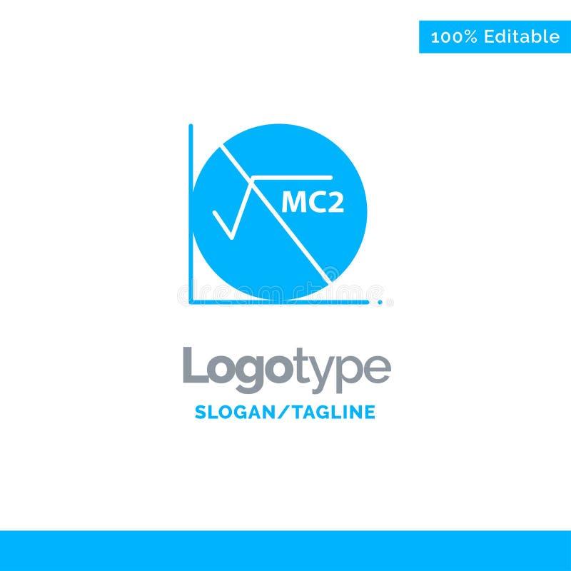 Wiskunde, Formule, Wiskundeformule, Onderwijs Blauwe Zaken Logo Template royalty-vrije illustratie