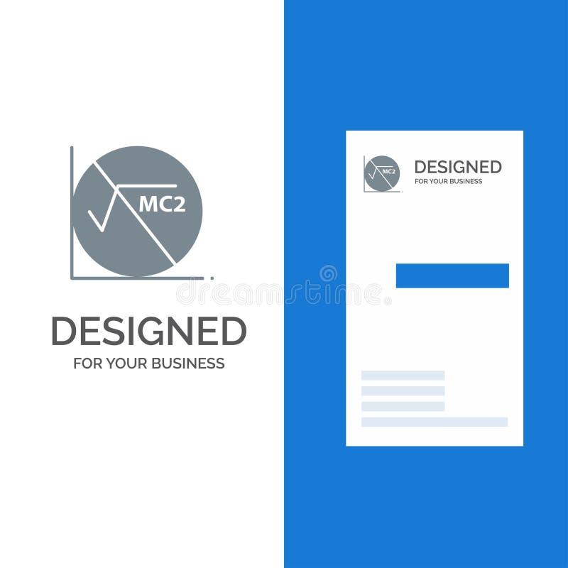 Wiskunde, Formule, Wiskundeformule, Onderwijs Grey Logo Design en Visitekaartjemalplaatje stock illustratie