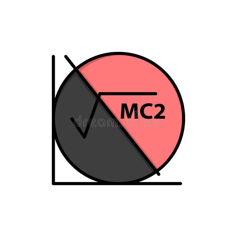 Wiskunde, Formule, Wiskundeformule, Pictogram van de Onderwijs het Vlakke Kleur Het vectormalplaatje van de pictogrambanner vector illustratie
