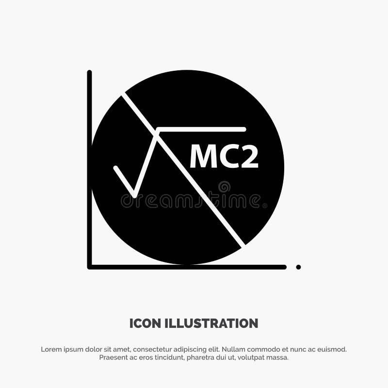 Wiskunde, Formule, Wiskundeformule, Pictogram van Onderwijs het Stevige Zwarte Glyph vector illustratie