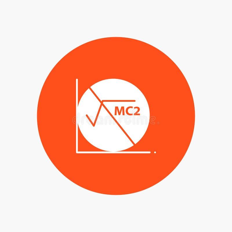 Wiskunde, Formule, Wiskundeformule, pictogram van Onderwijs het witte glyph vector illustratie