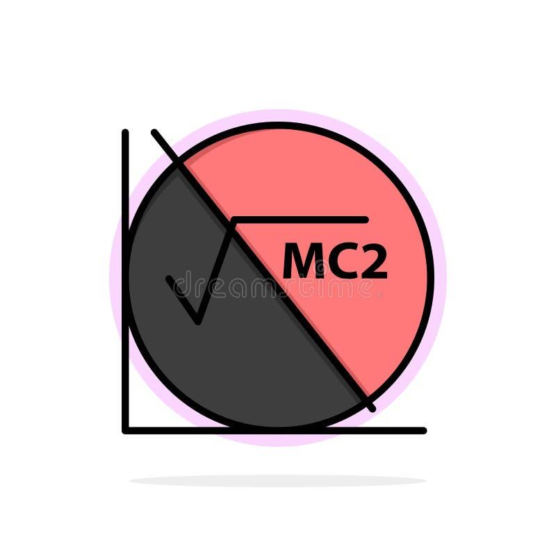 Wiskunde, Formule, Wiskundeformule, van de Achtergrond onderwijs Abstract Cirkel Vlak kleurenpictogram vector illustratie