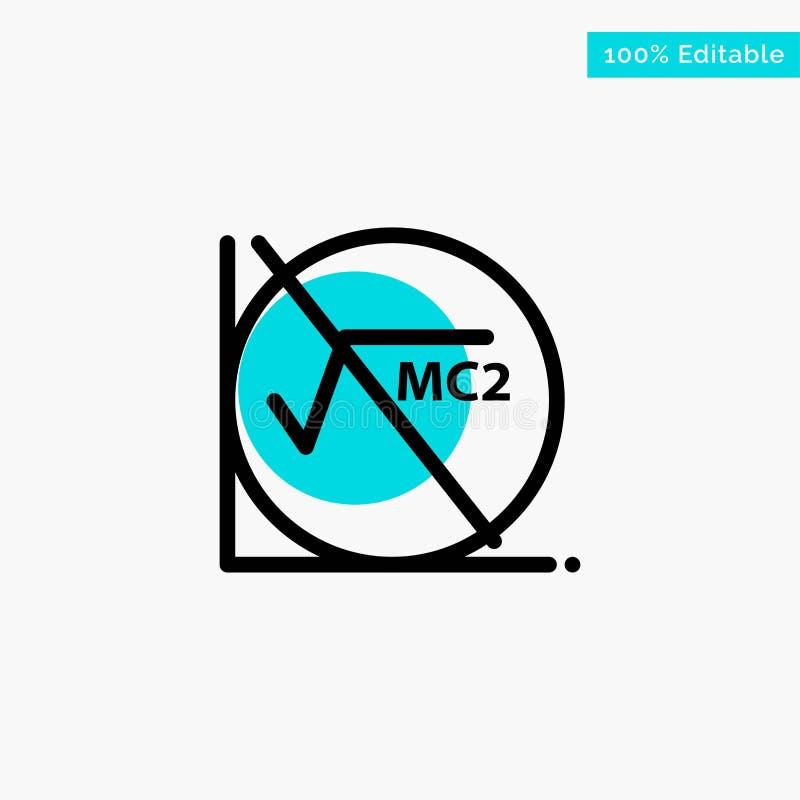 Wiskunde, Formule, Wiskundeformule, van het de cirkelpunt van het Onderwijs het turkooise hoogtepunt Vectorpictogram stock illustratie