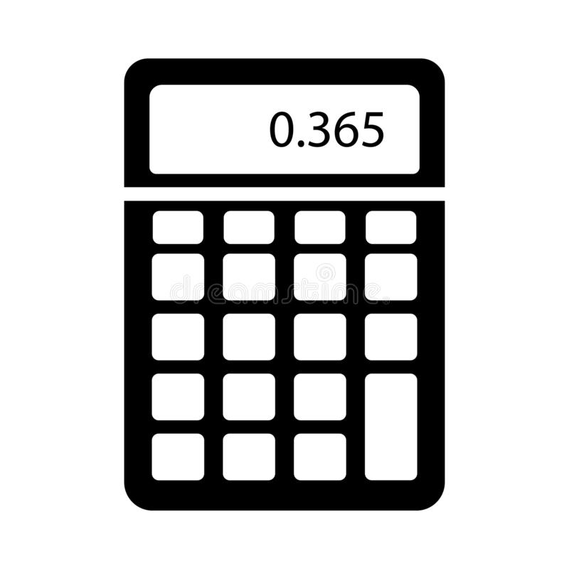 Wiskunde glyph vlak vectorpictogram stock illustratie