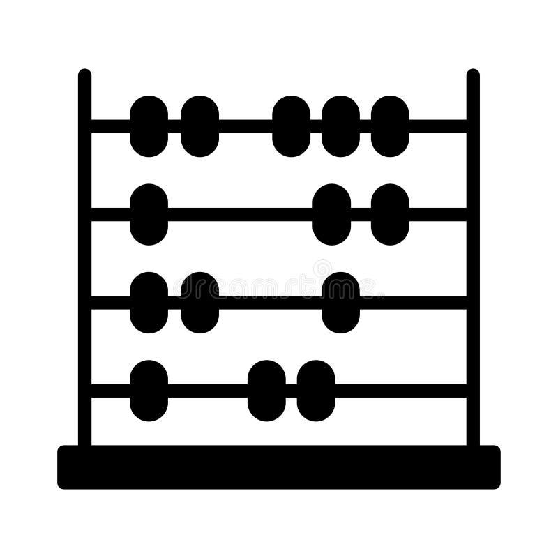 Wiskunde glyph vlak vectorpictogram vector illustratie