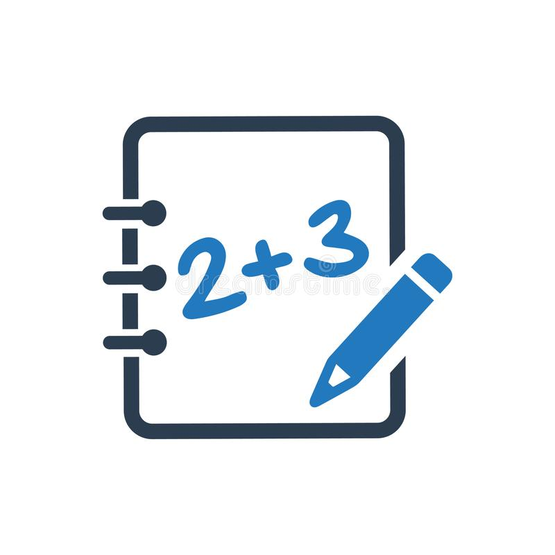 Wiskunde het leren pictogram royalty-vrije illustratie