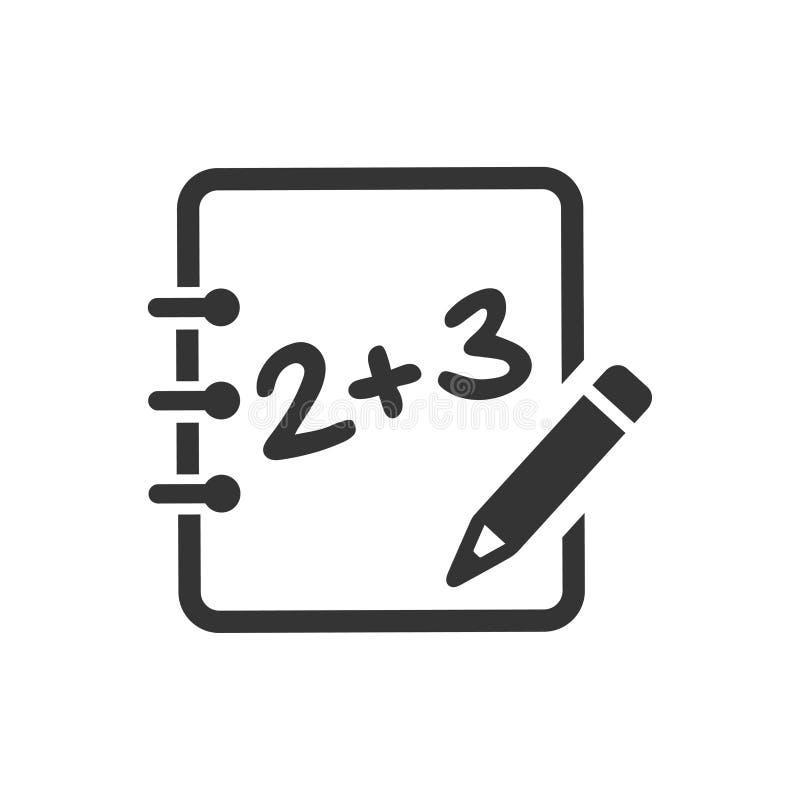 Wiskunde het leren pictogram stock illustratie