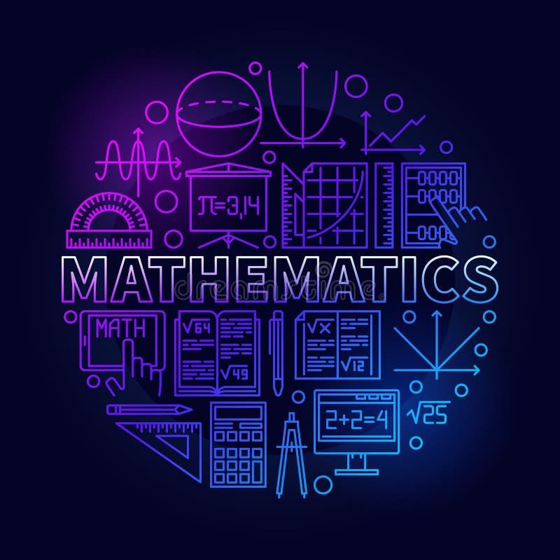 Wiskunde lineair kleurrijk symbool stock illustratie