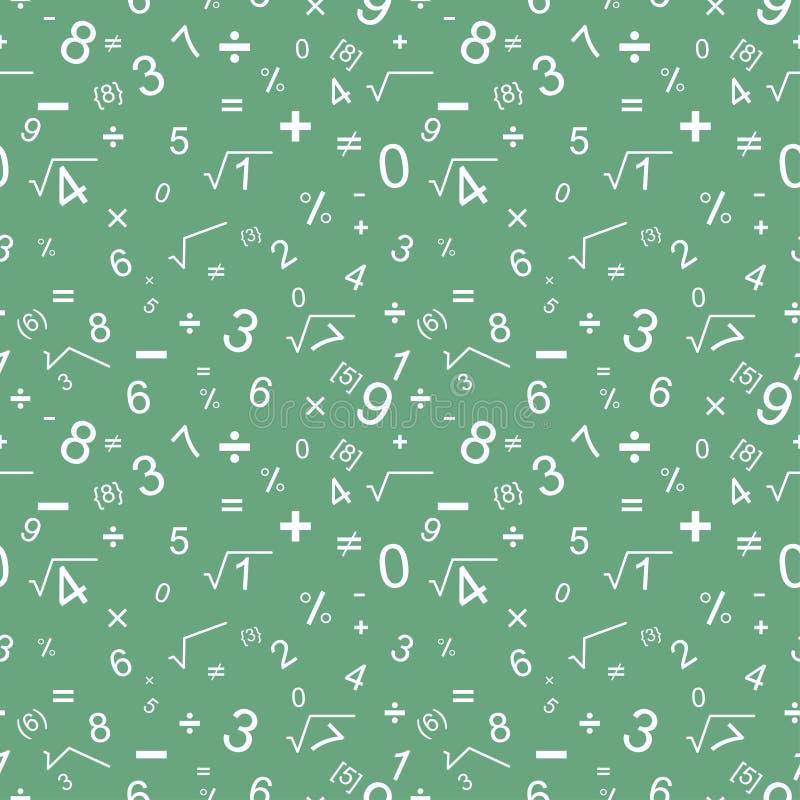 Wiskunde naadloos patroon stock illustratie