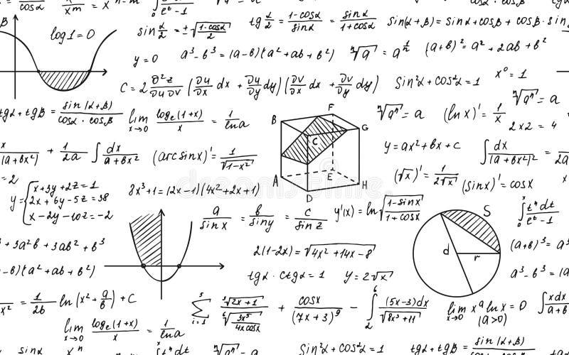 Wiskunde Naadloos Patroon royalty-vrije illustratie