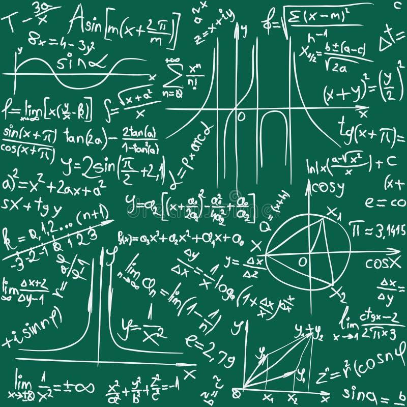 Wiskunde Naadloze Achtergrond royalty-vrije illustratie