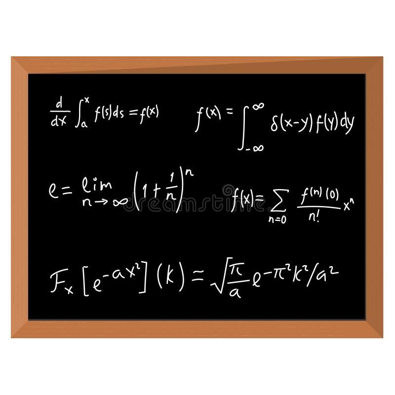 Wiskunde op bord vector illustratie