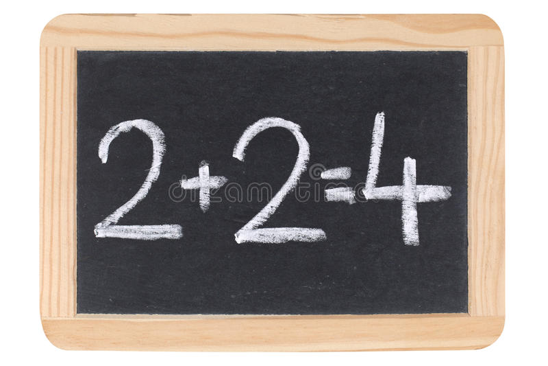 Wiskunde op een bord of een bord stock afbeeldingen