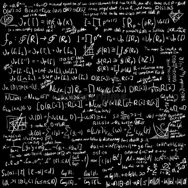 Wiskunde vectorachtergrond stock illustratie