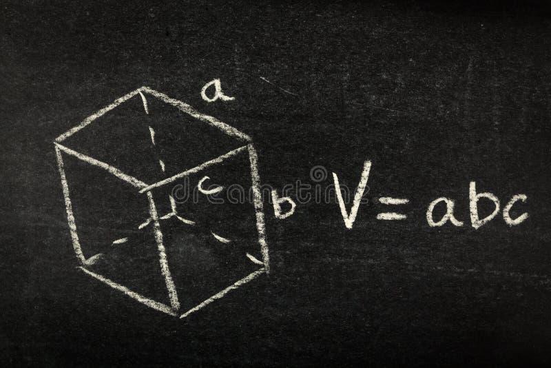 Wiskundeformule op bord stock foto