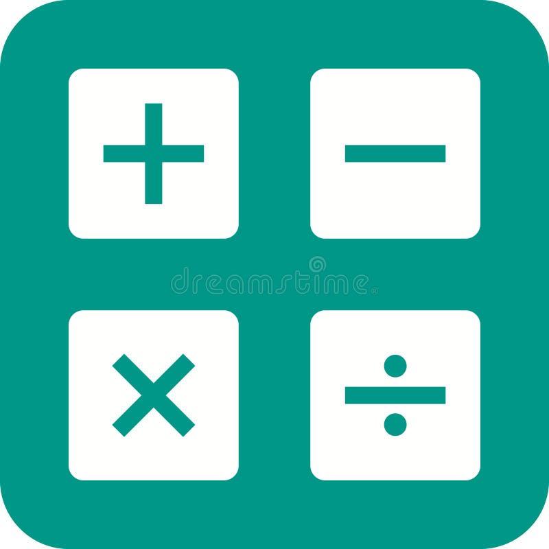 Wiskundesymbolen II stock illustratie