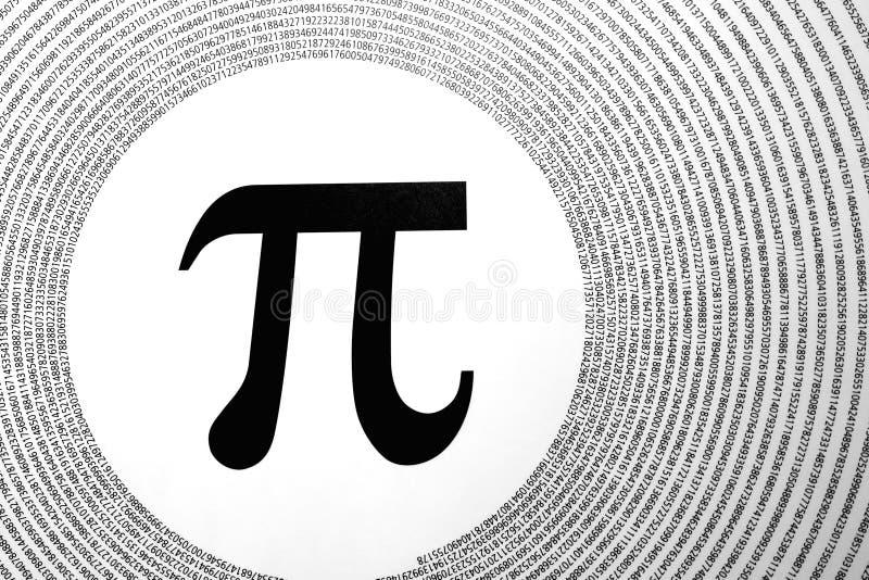 Wiskundig constant Pi stock illustratie