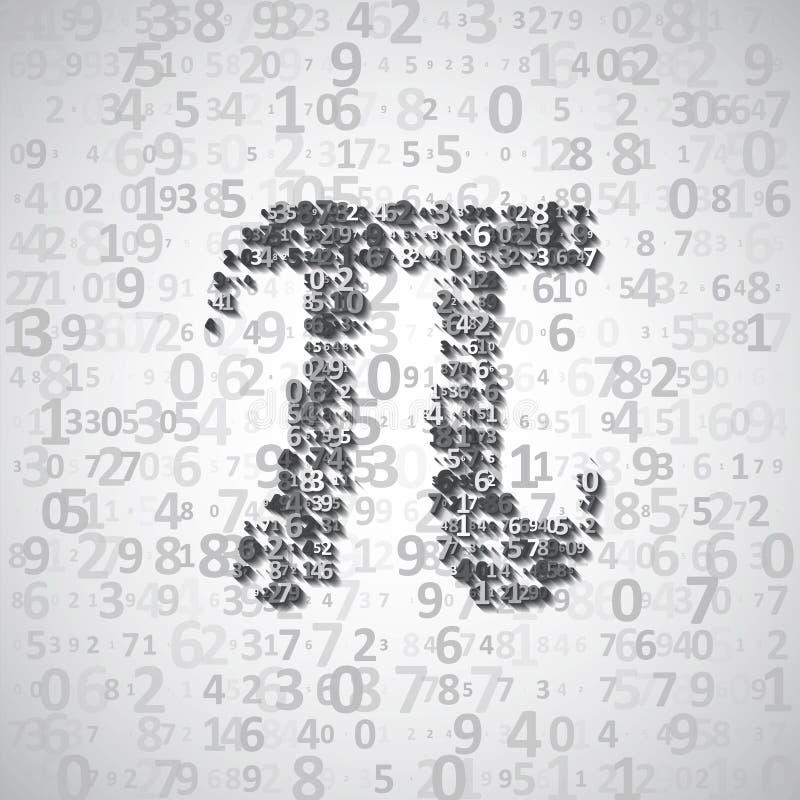 Wiskundig constant Pi vector illustratie