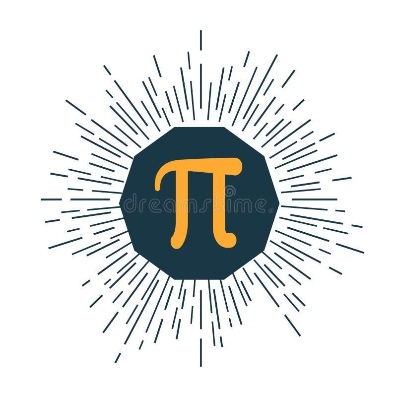 Wiskundig Pi-vlak pictogram Vector illustratie royalty-vrije illustratie