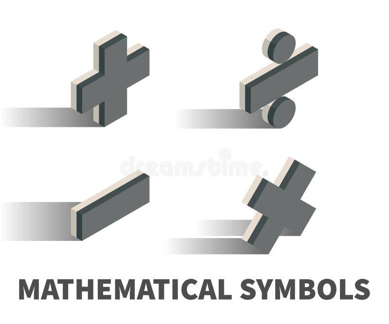 Wiskundig symbolenpictogram, vectorsymbool royalty-vrije illustratie