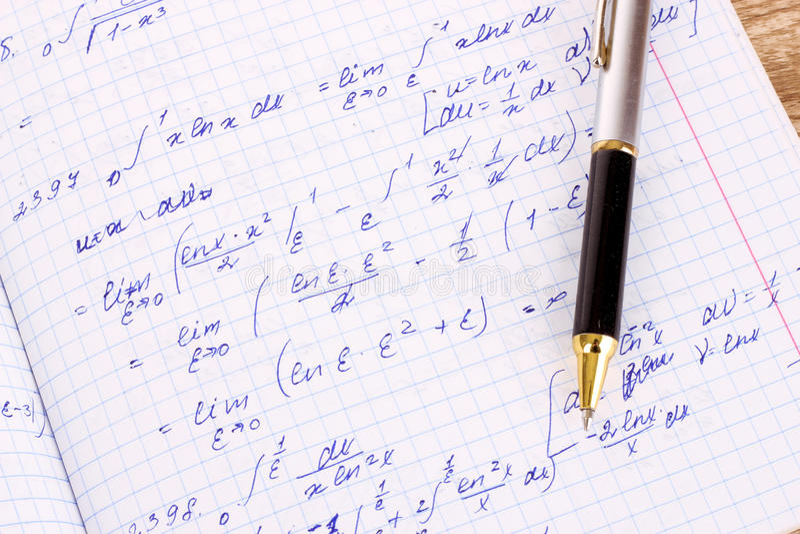 Wiskundige berekening royalty-vrije stock afbeelding