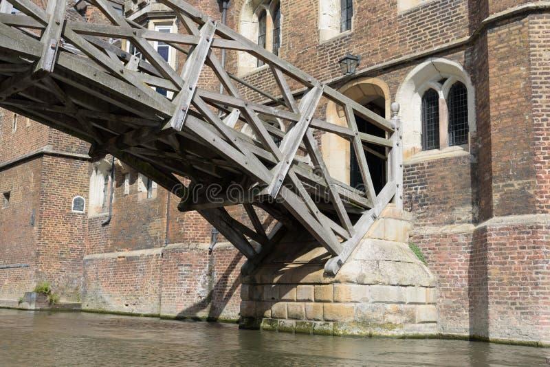 Wiskundige Brug bij de Universiteit van Koninginnen, Cambridge, Engeland royalty-vrije stock fotografie
