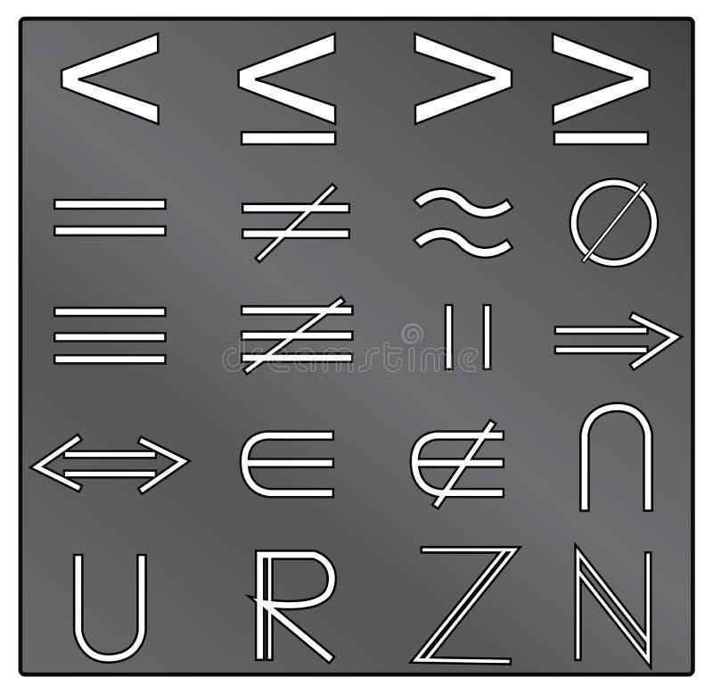 Wiskundige symbolen royalty-vrije illustratie