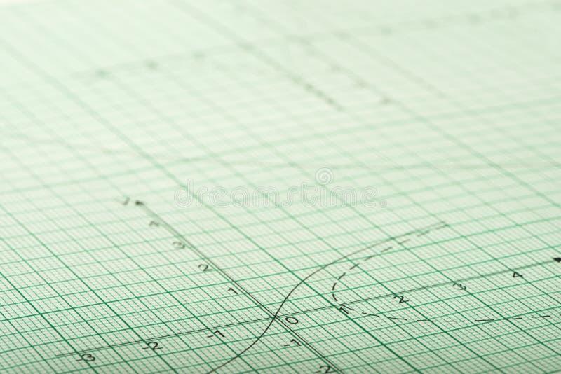 Wiskundige tekeningen, concepten en strategieën stock foto's