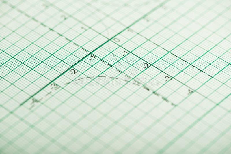 Wiskundige tekeningen, concepten en strategieën stock afbeeldingen