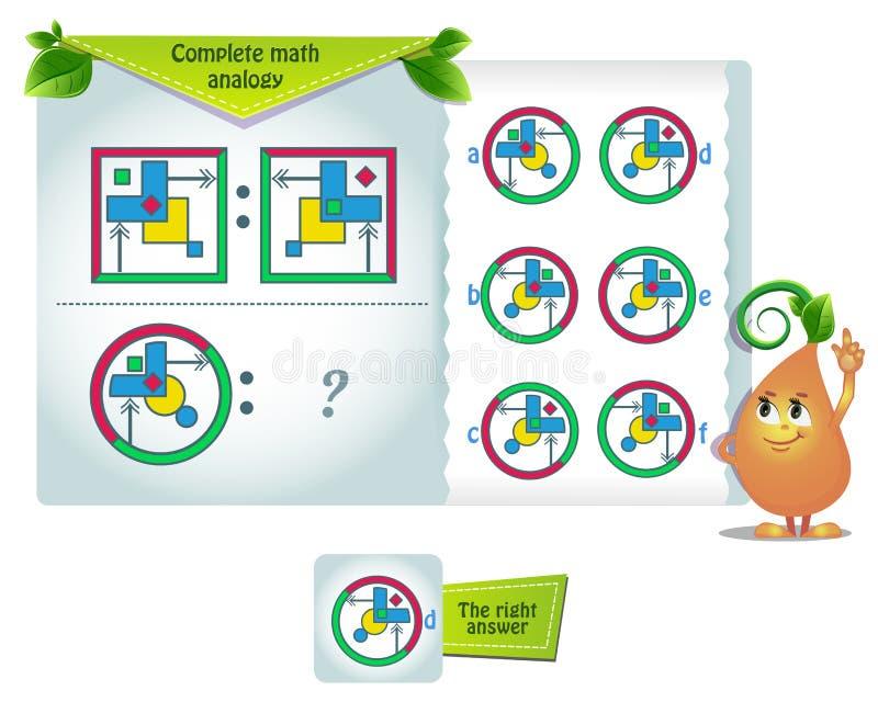 Wiskundige vorm analogie iq vector illustratie
