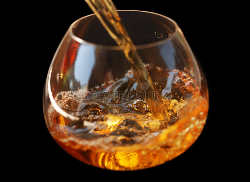 wisky in glas stock afbeelding