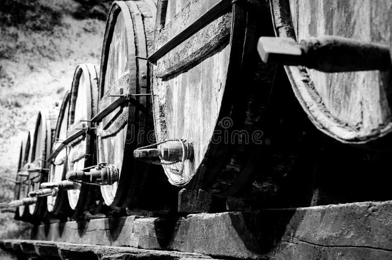 Wisky of wijnvatten stock afbeelding