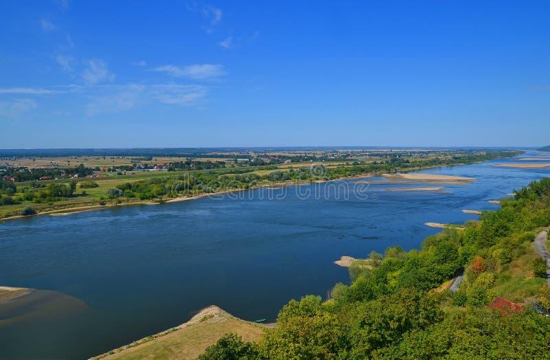 Wisla rivier Polen royalty-vrije stock foto's
