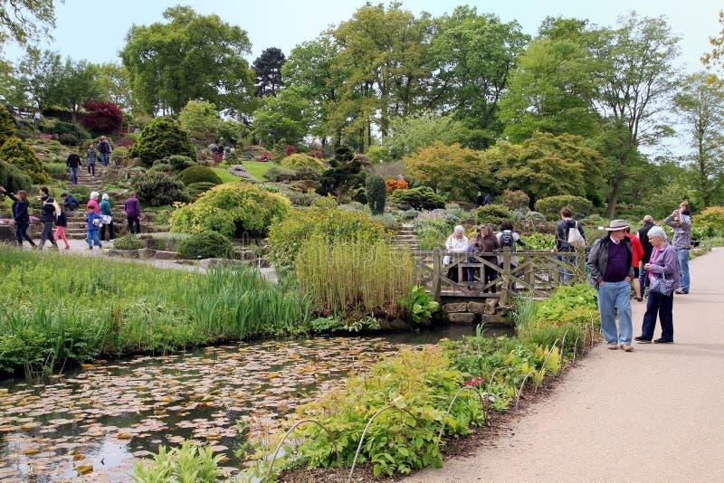 Wisley, Surrey, UK - Kwiecień 30 2017: Goście cieszy się beauti zdjęcia stock