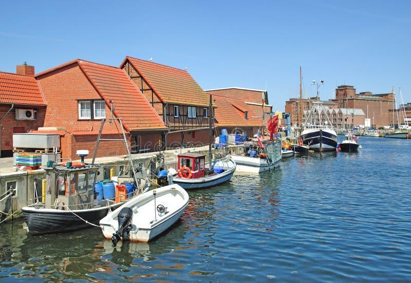 Wismar, litorale di Mecklenburg, Germania fotografia stock libera da diritti