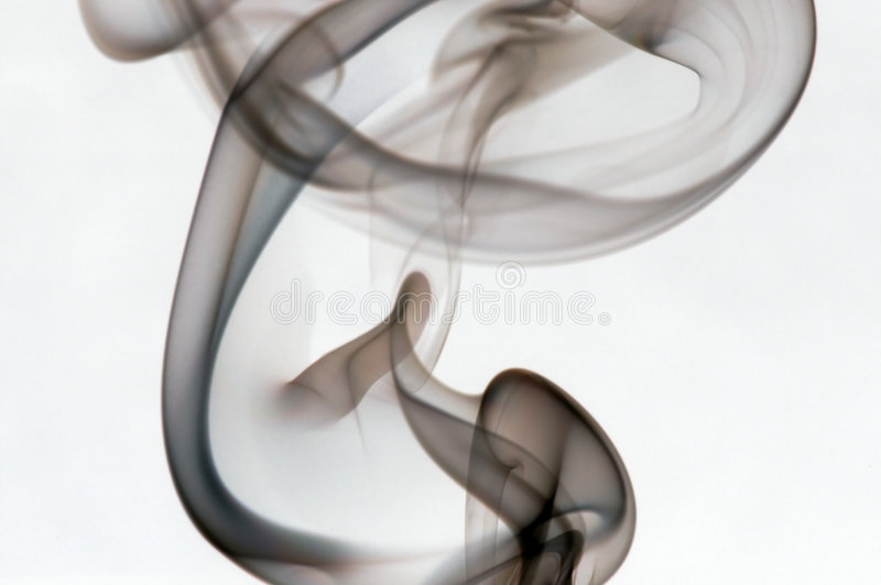 Wisp of Smoke. A wisp of colorful smoke royalty free stock images