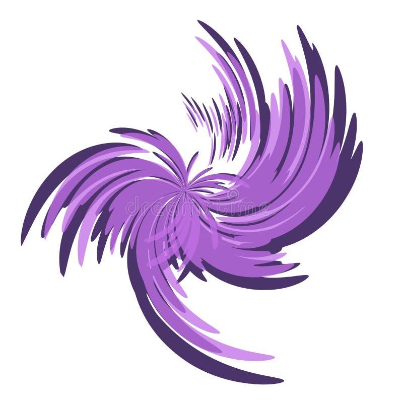 Wisps and Swirls Purple Spiral royalty free stock image